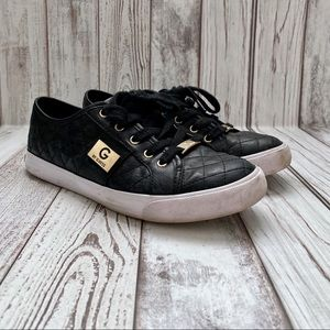 G by Guess Becker Black Quilted Sneakers